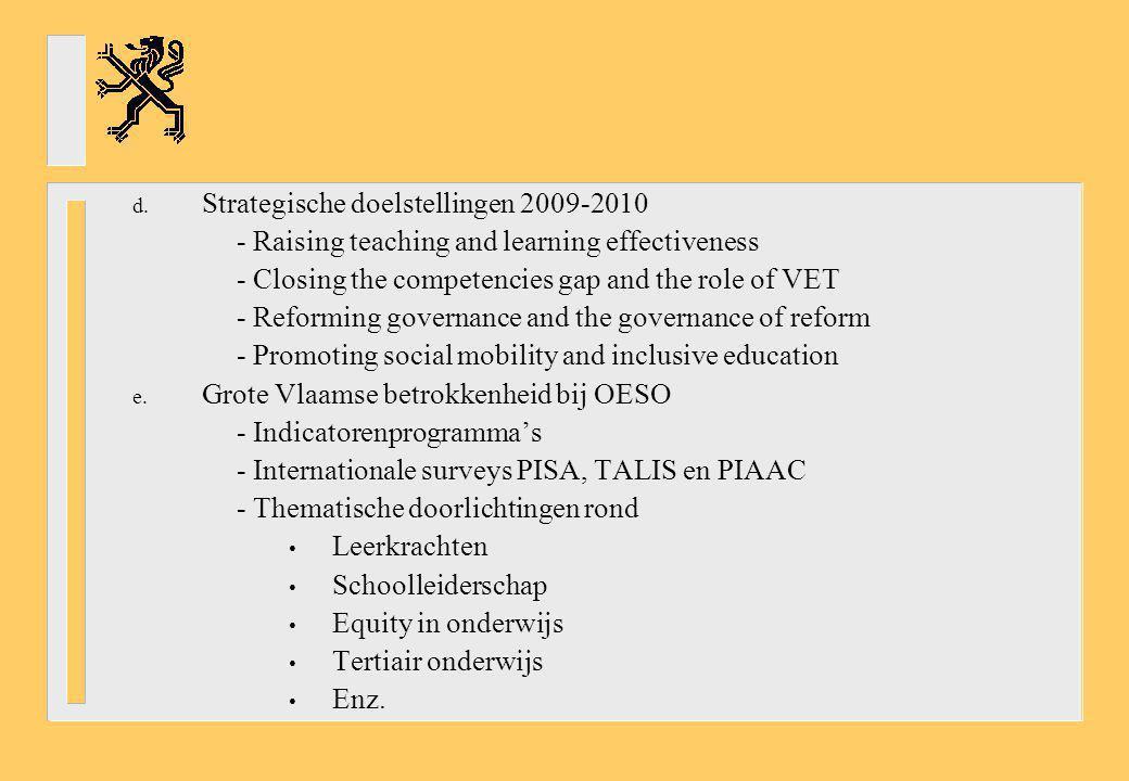 Strategische doelstellingen 2009-2010