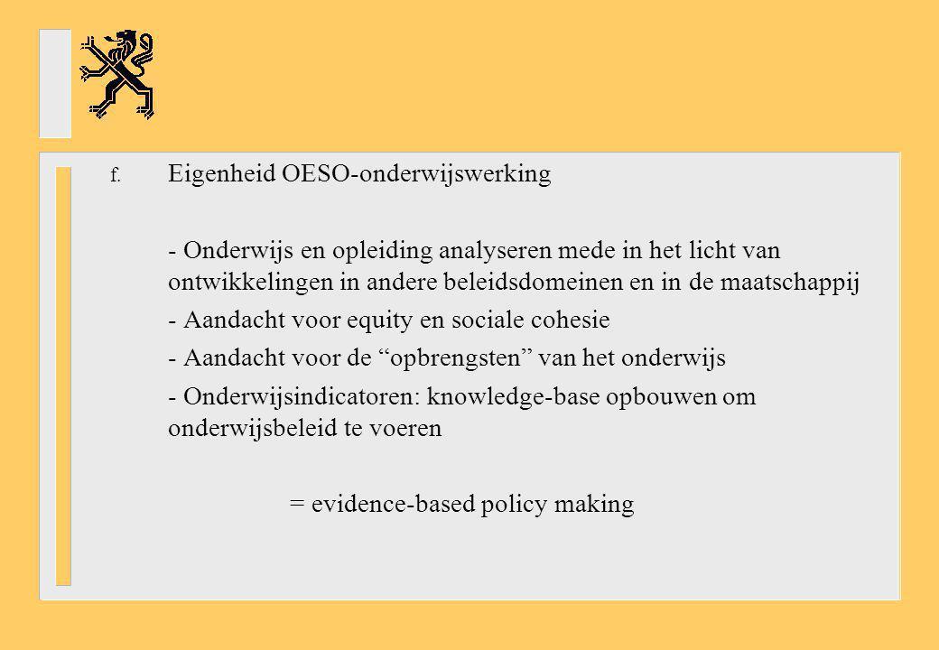 Eigenheid OESO-onderwijswerking