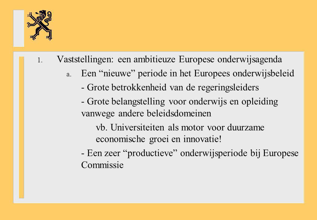 Vaststellingen: een ambitieuze Europese onderwijsagenda