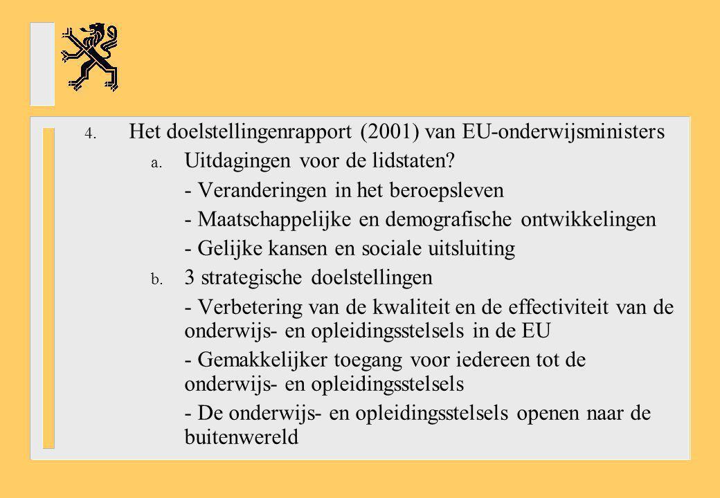 Het doelstellingenrapport (2001) van EU-onderwijsministers