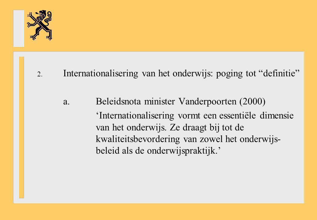 Internationalisering van het onderwijs: poging tot definitie
