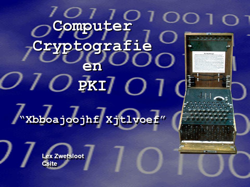 Computer Cryptografie en PKI