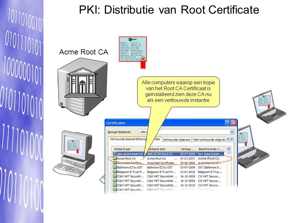 PKI: Distributie van Root Certificate