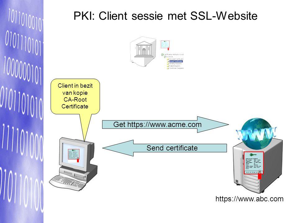 PKI: Client sessie met SSL-Website