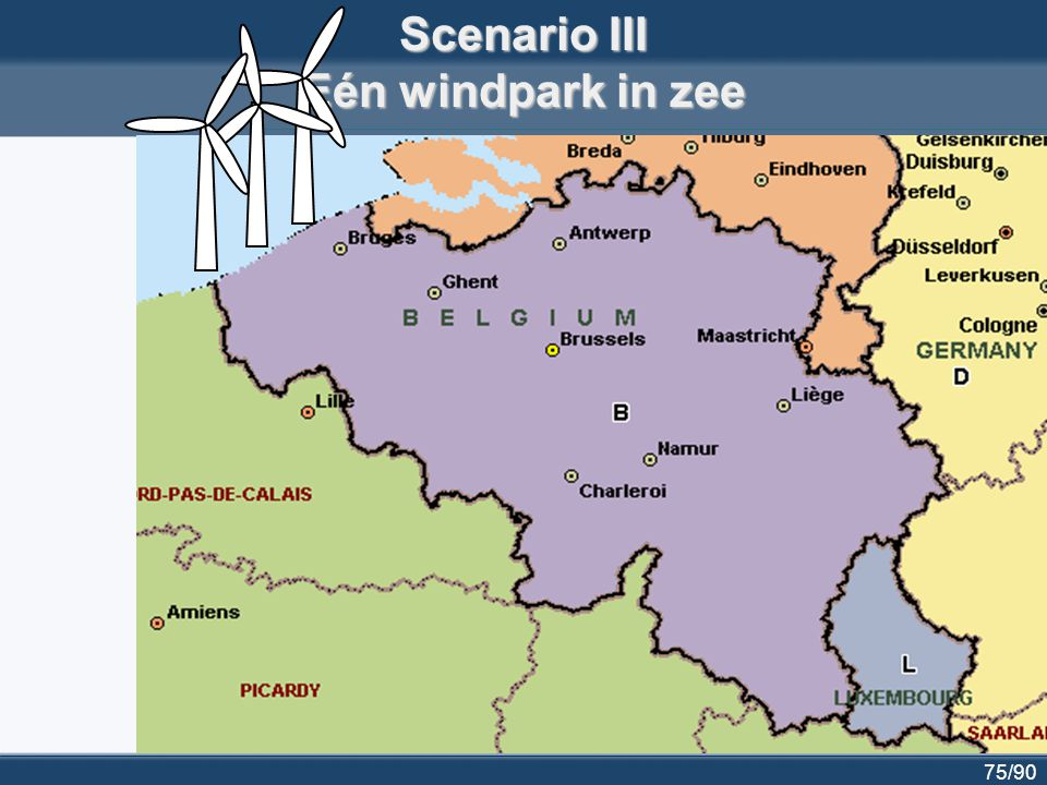 Scenario III Eén windpark in zee