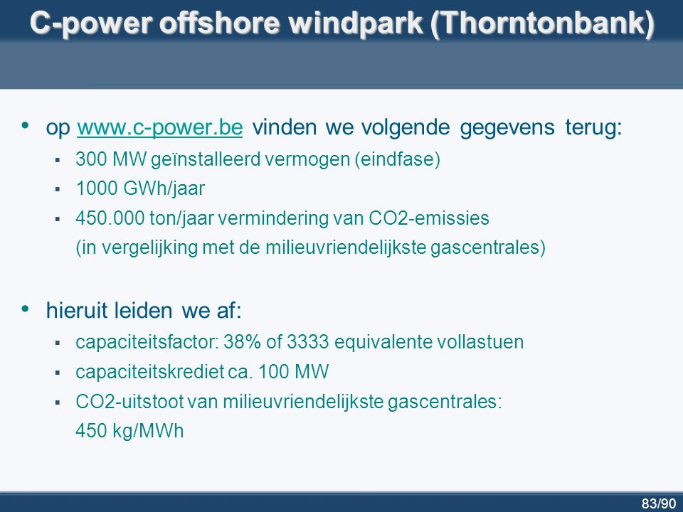 C-power offshore windpark (Thorntonbank)