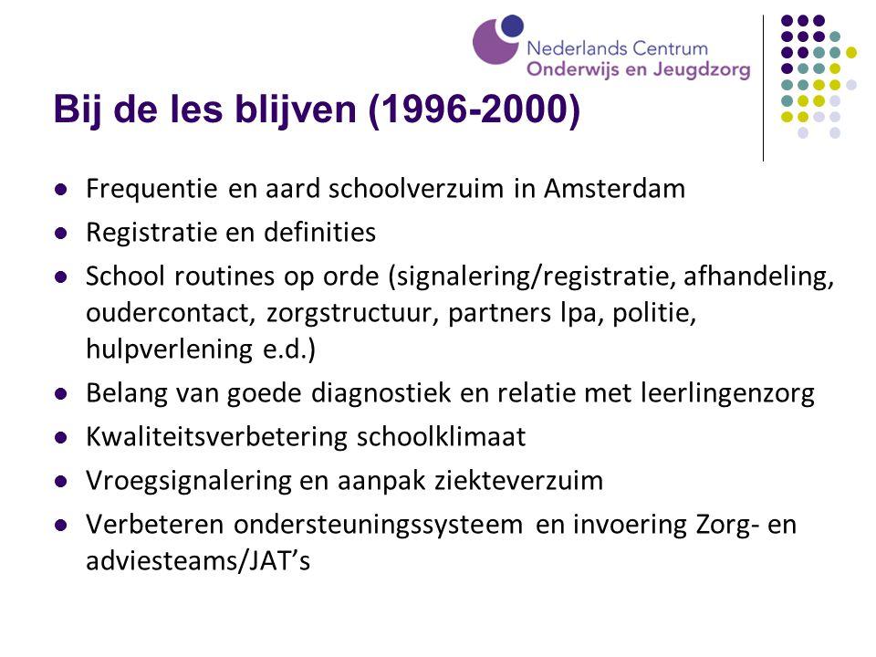 Bij de les blijven (1996-2000) Frequentie en aard schoolverzuim in Amsterdam. Registratie en definities.