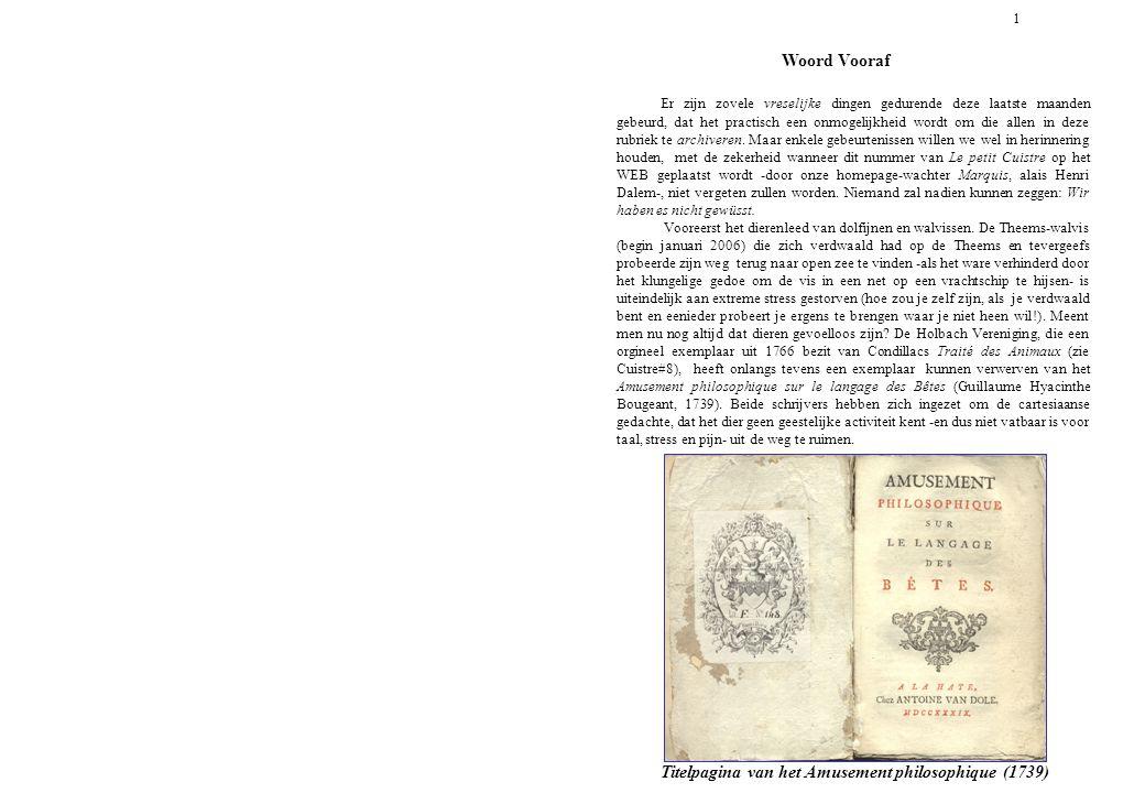 Titelpagina van het Amusement philosophique (1739)
