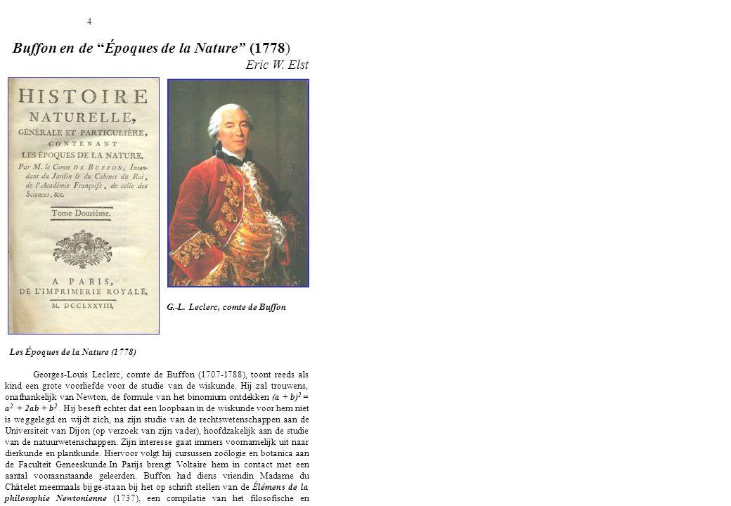 Buffon en de Époques de la Nature (1778)