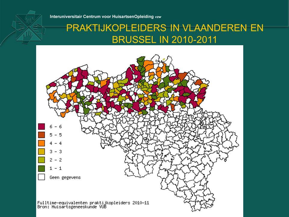 PRAKTIJKOPLEIDERS IN VLAANDEREN EN BRUSSEL IN 2010-2011
