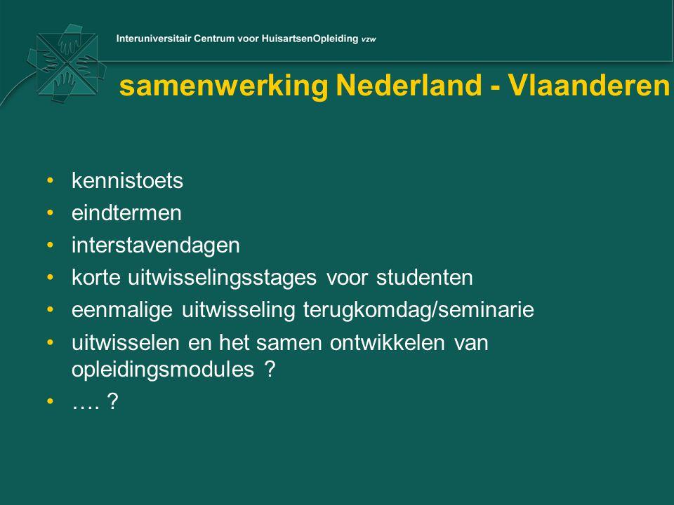 samenwerking Nederland - Vlaanderen