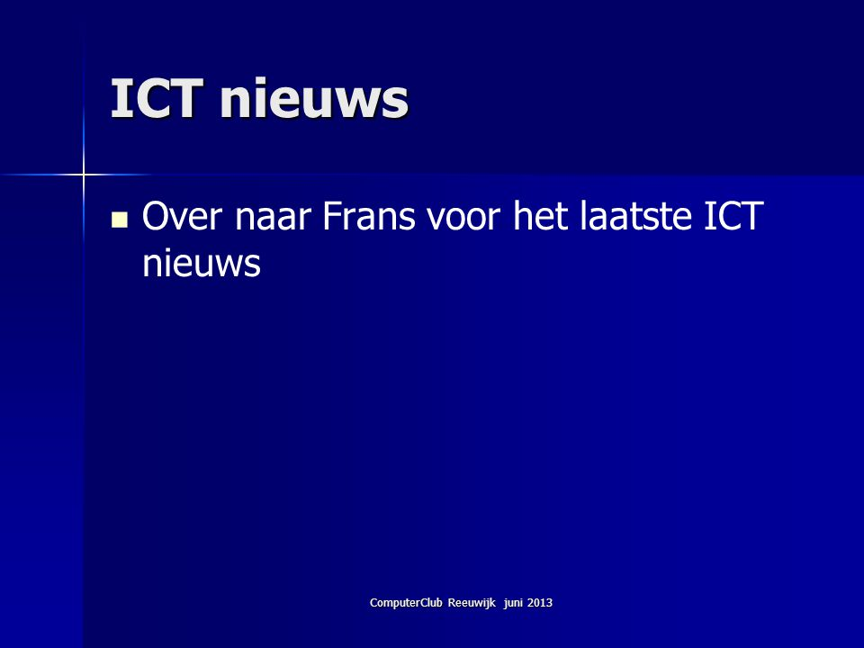 ComputerClub Reeuwijk juni 2013