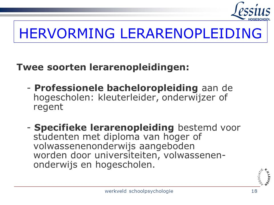HERVORMING LERARENOPLEIDING