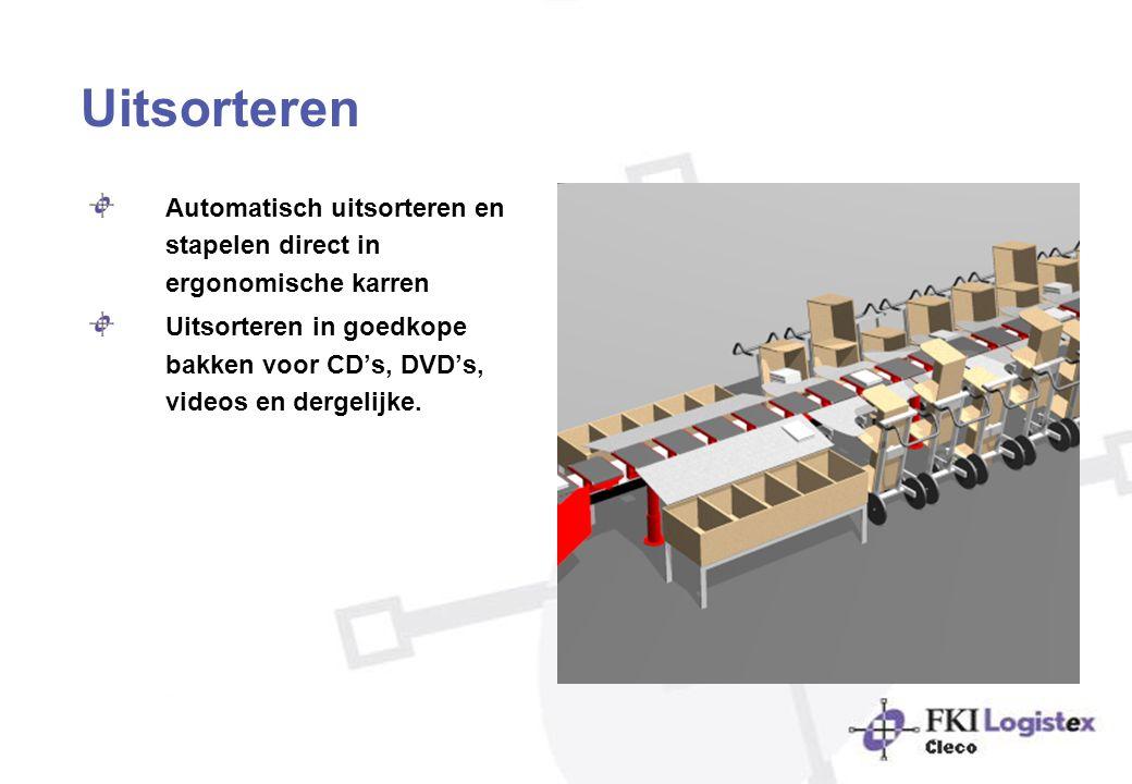 Uitsorteren Automatisch uitsorteren en stapelen direct in ergonomische karren.