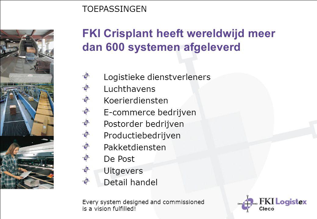 FKI Crisplant heeft wereldwijd meer dan 600 systemen afgeleverd