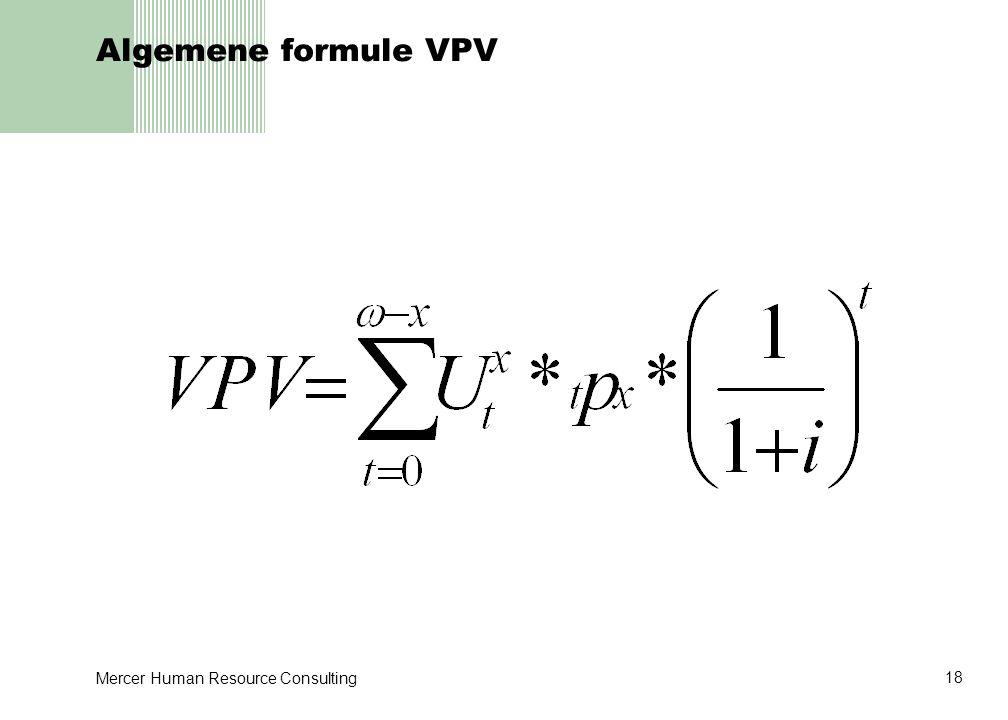 Algemene formule VPV