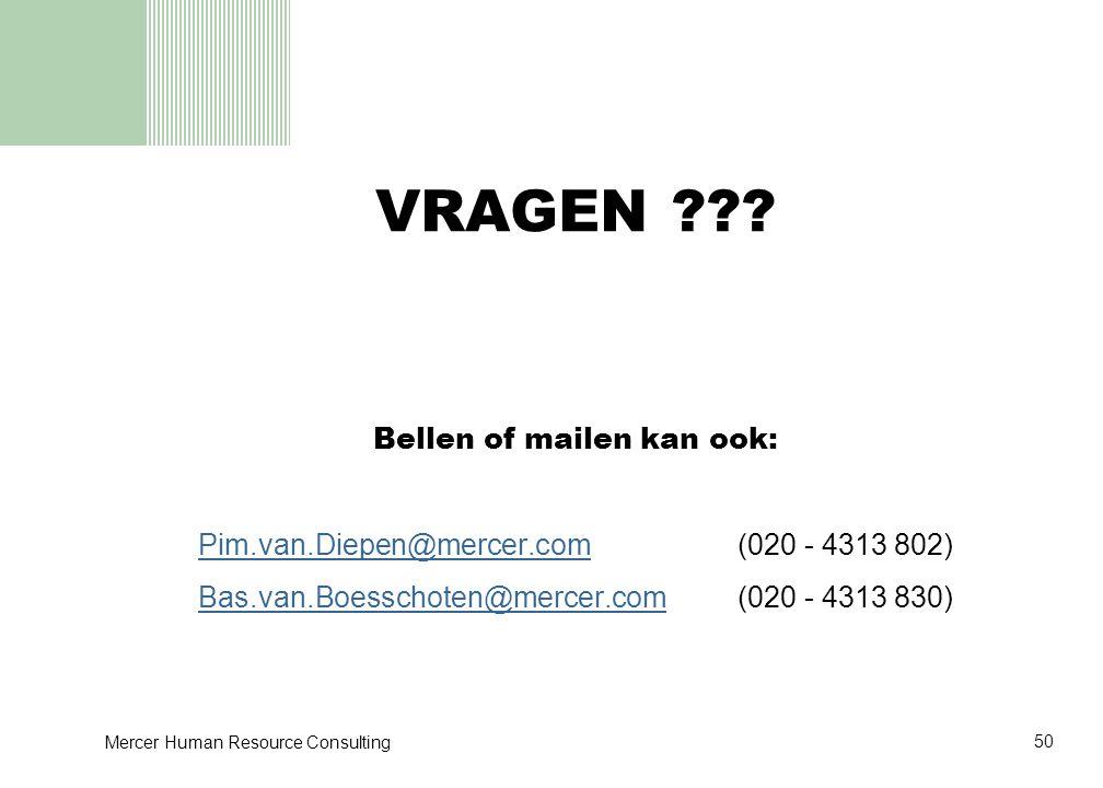 VRAGEN Bellen of mailen kan ook: