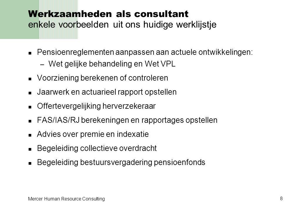 Werkzaamheden als consultant enkele voorbeelden uit ons huidige werklijstje