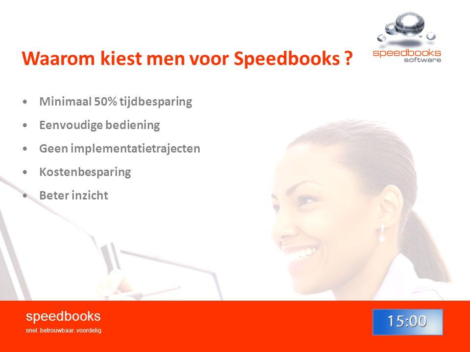 Waarom kiest men voor Speedbooks