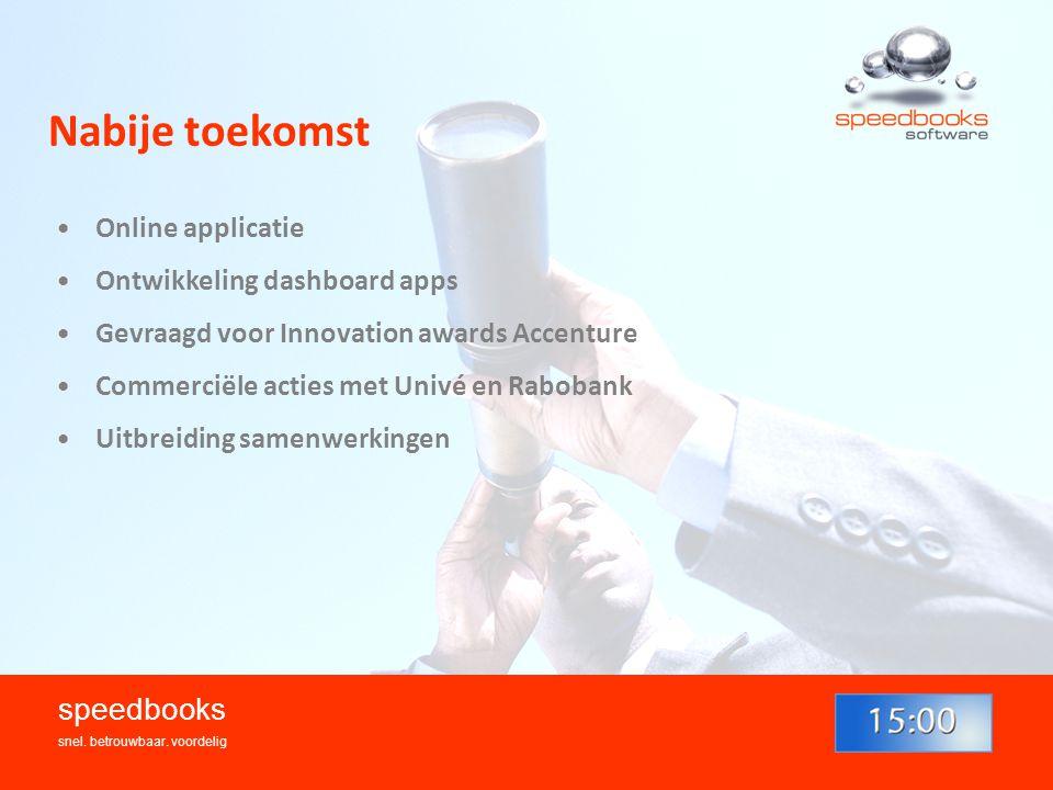 Nabije toekomst speedbooks Online applicatie
