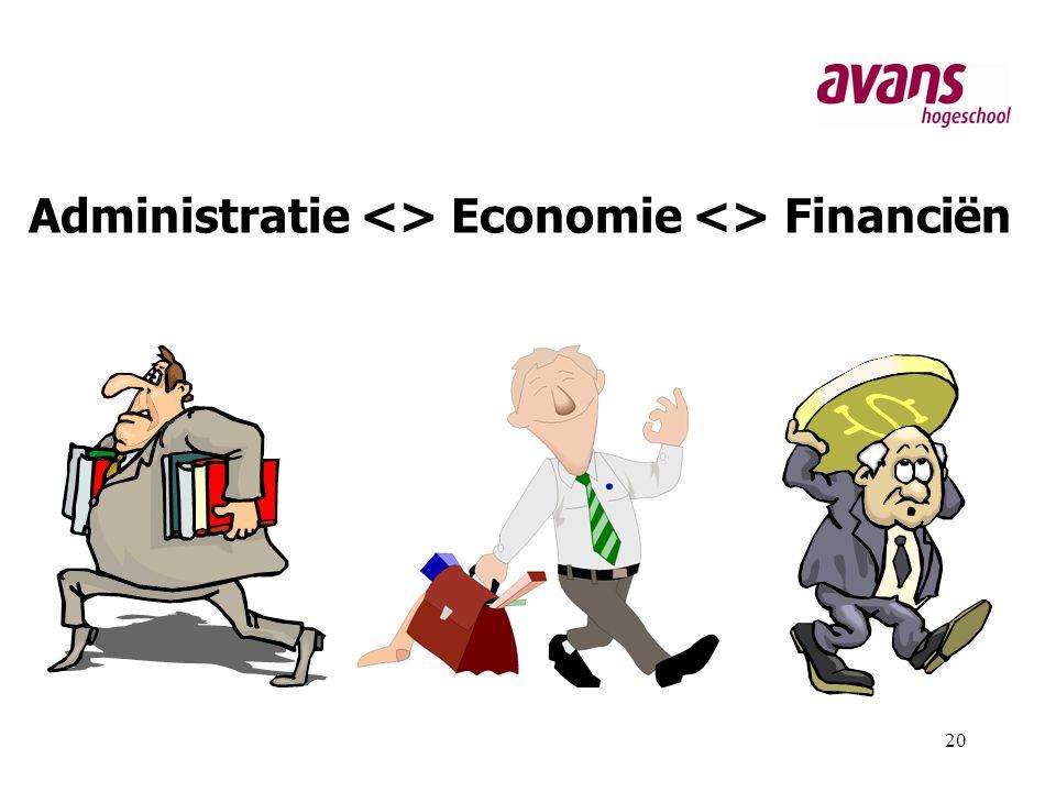 Administratie <> Economie <> Financiën