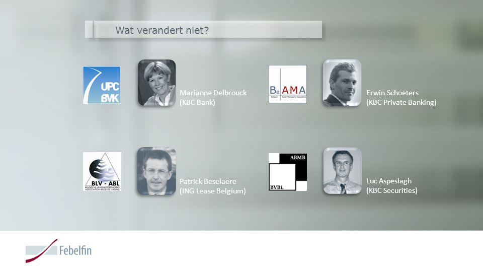 Wat verandert niet Marianne Delbrouck (KBC Bank)