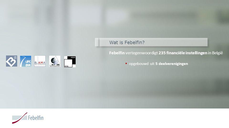Febelfin vertegenwoordigt 235 financiële instellingen in België