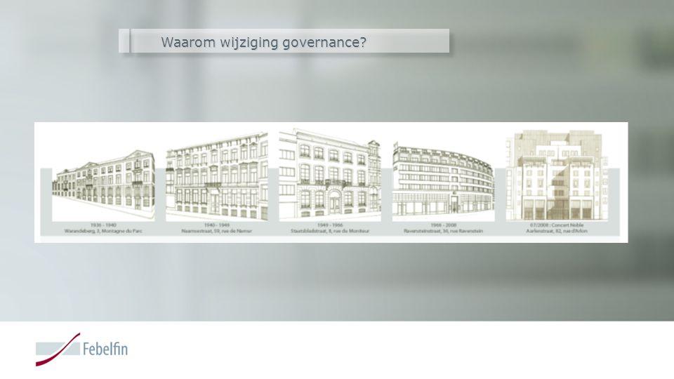 Waarom wijziging governance
