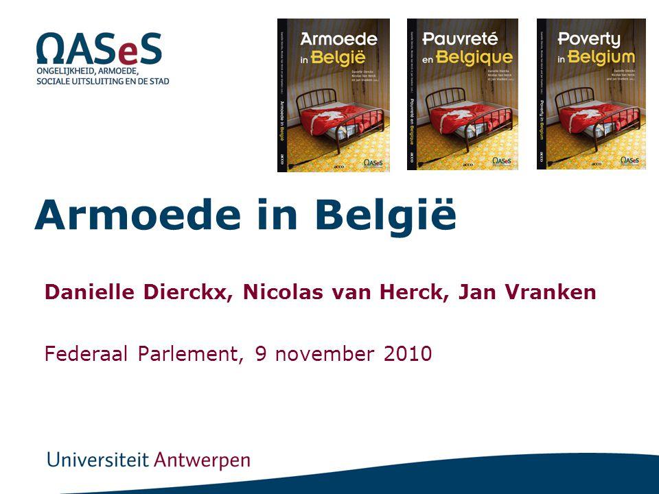Armoede in België Danielle Dierckx, Nicolas van Herck, Jan Vranken