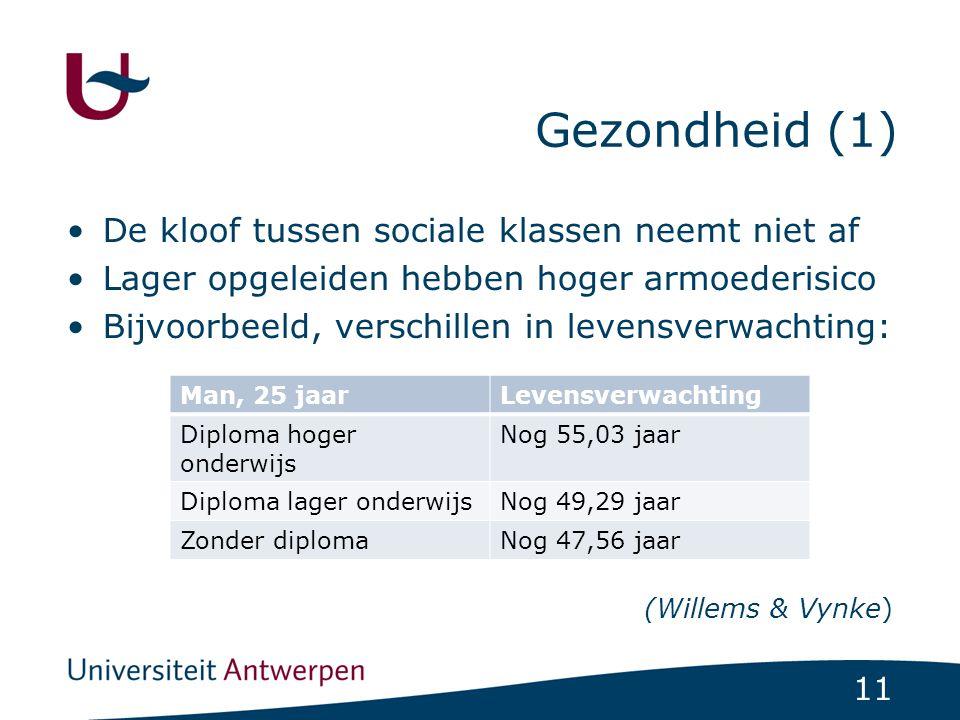 Gezondheid (1) De kloof tussen sociale klassen neemt niet af