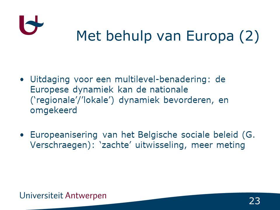 Met behulp van Europa (2)