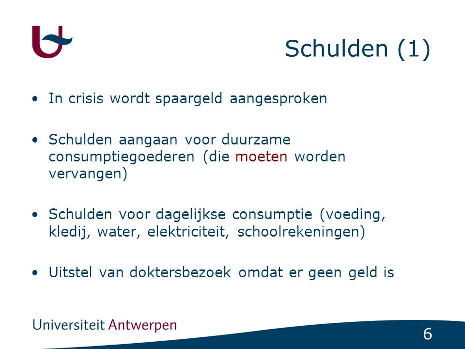 Schulden (1) In crisis wordt spaargeld aangesproken