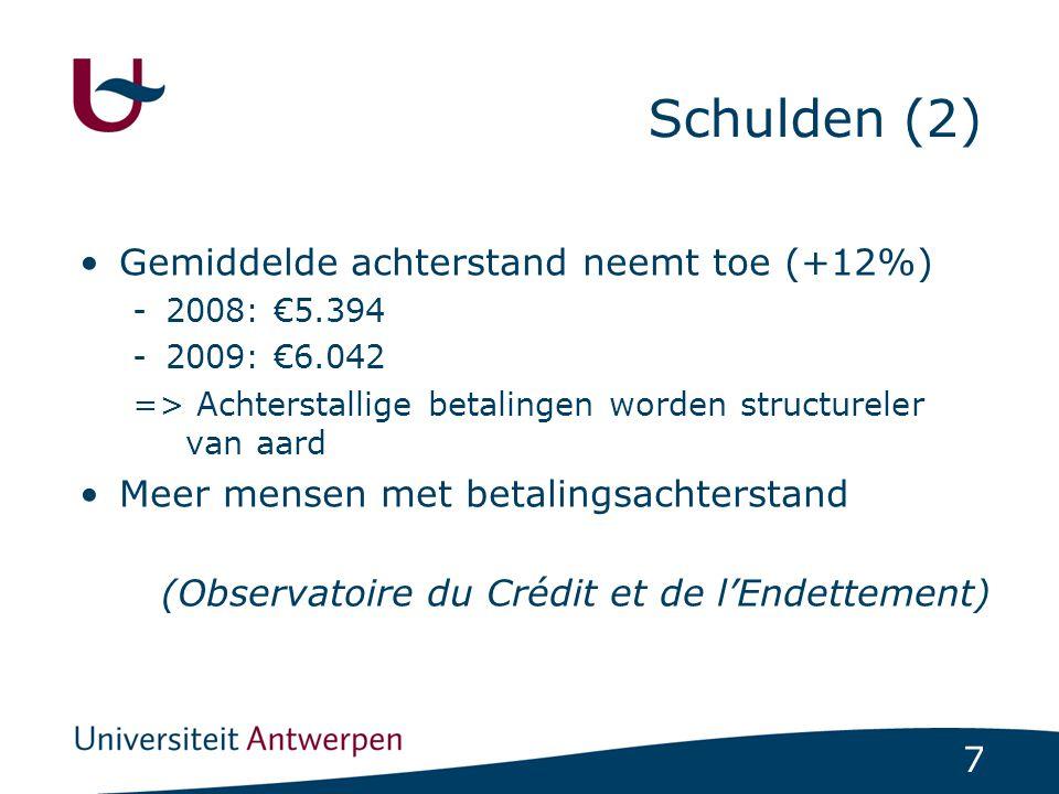 Schulden (2) Gemiddelde achterstand neemt toe (+12%)