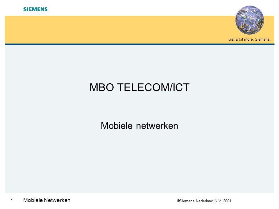 MBO TELECOM/ICT Mobiele netwerken Mobiele Netwerken