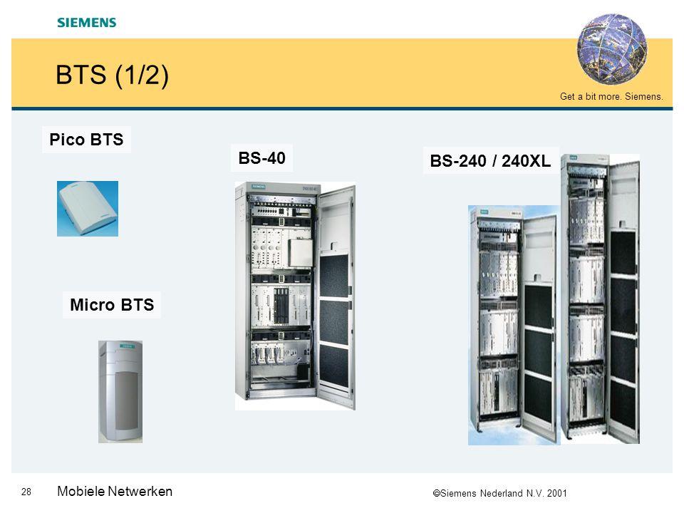 BTS (1/2) Pico BTS BS-40 BS-240 / 240XL Micro BTS Mobiele Netwerken