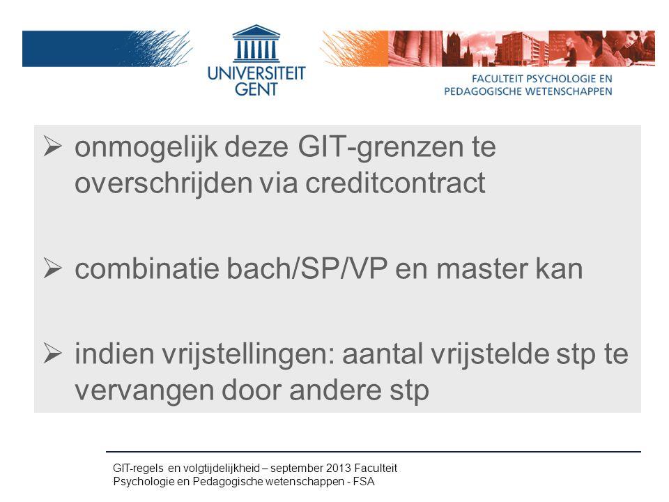 onmogelijk deze GIT-grenzen te overschrijden via creditcontract