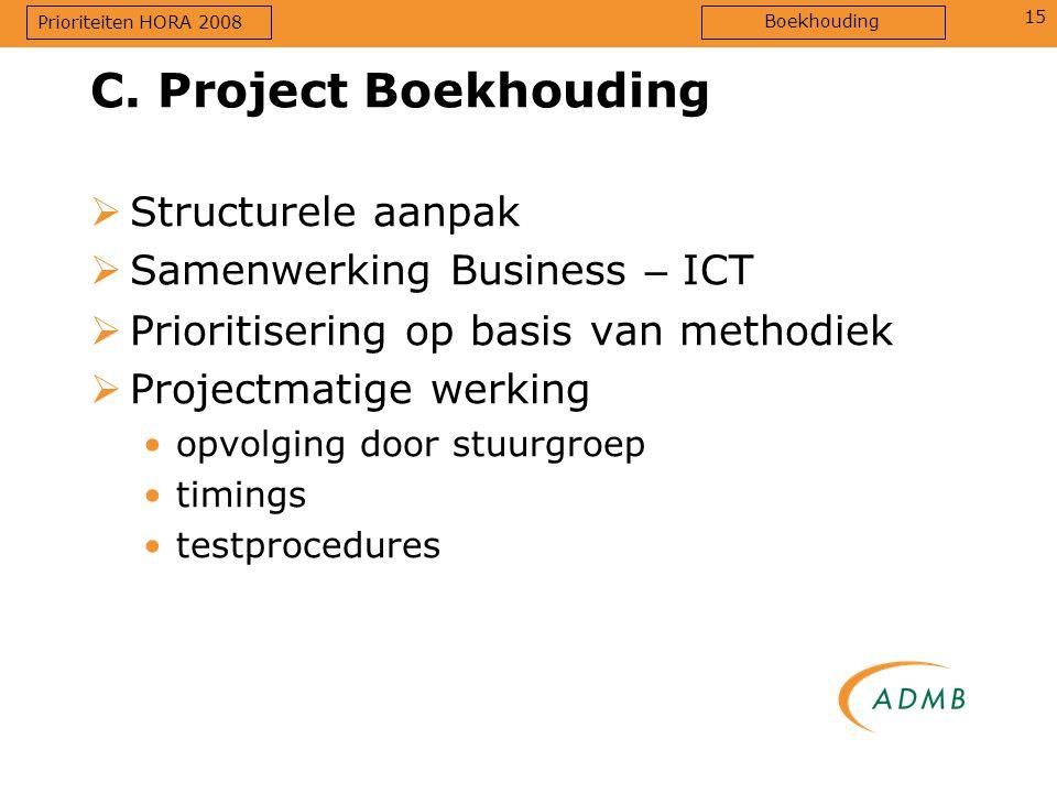 C. Project Boekhouding Structurele aanpak Samenwerking Business – ICT