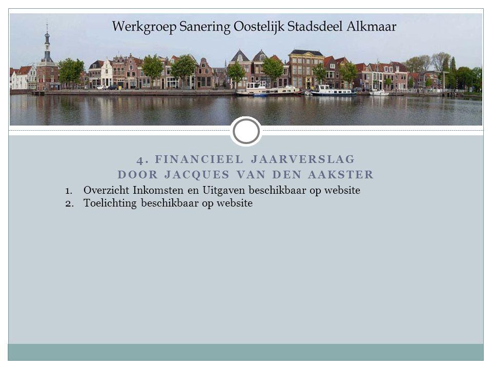 4. Financieel Jaarverslag Door Jacques van den Aakster