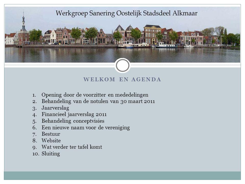 Welkom en agenda Opening door de voorzitter en mededelingen. Behandeling van de notulen van 30 maart 2011.
