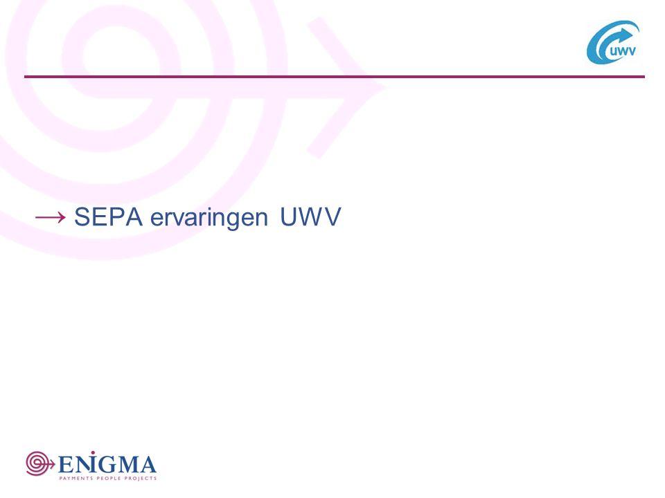 SEPA ervaringen UWV