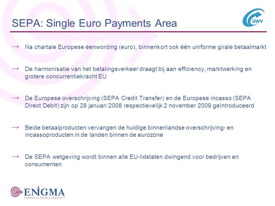 SEPA: Single Euro Payments Area