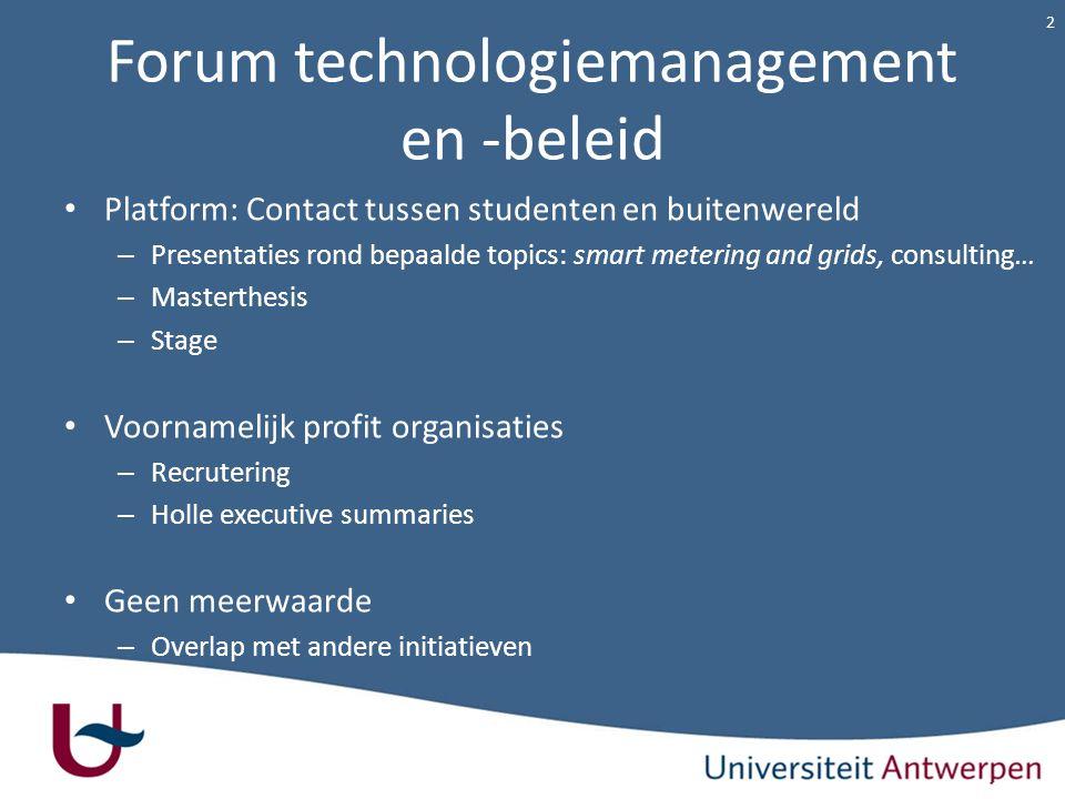 Forum technologiemanagement en -beleid