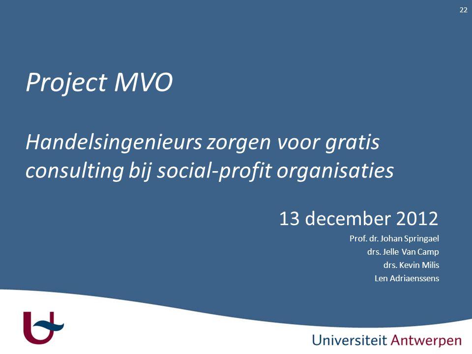 Project MVO Handelsingenieurs zorgen voor gratis consulting bij social-profit organisaties