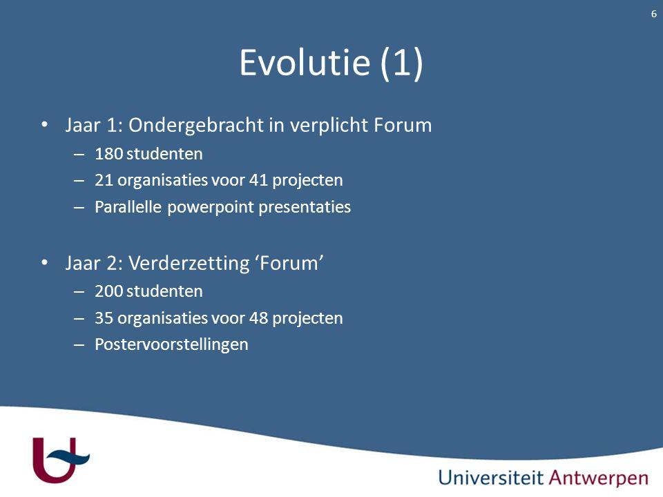 Evolutie (1) Jaar 1: Ondergebracht in verplicht Forum