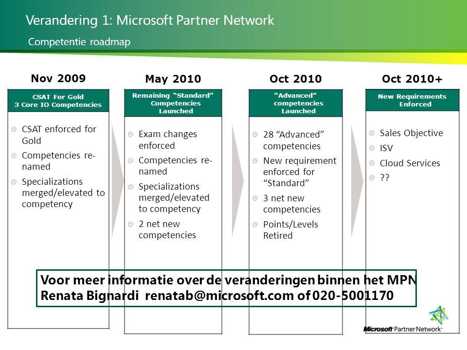 Verandering 1: Microsoft Partner Network