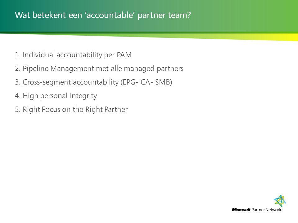 Wat betekent een 'accountable' partner team