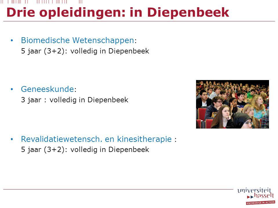 Drie opleidingen: in Diepenbeek