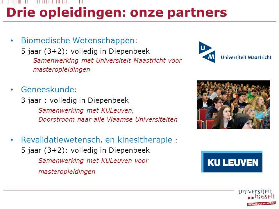Drie opleidingen: onze partners