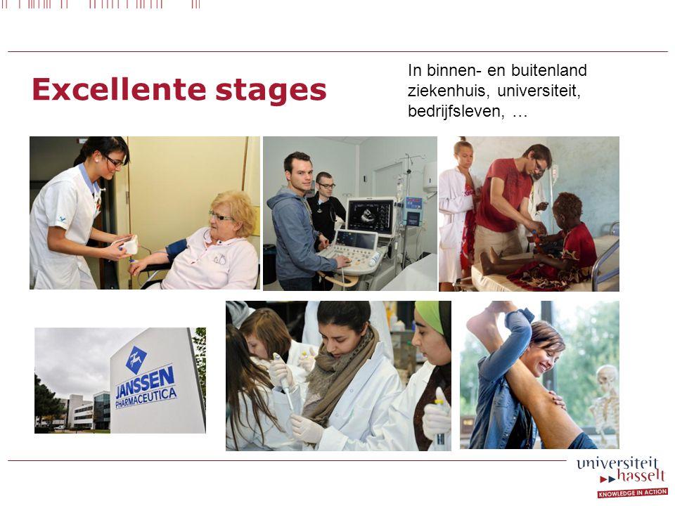 Excellente stages In binnen- en buitenland ziekenhuis, universiteit,