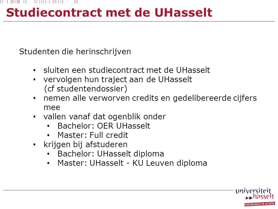 Studiecontract met de UHasselt